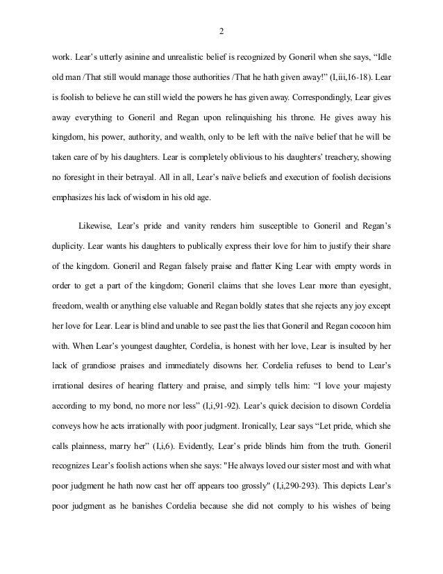 king lear goneril and regan essay