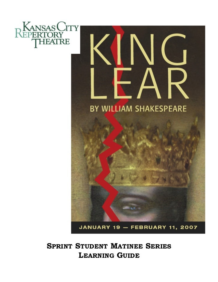 An analysis of the concept of blindness in king lear a play by william shakespeare