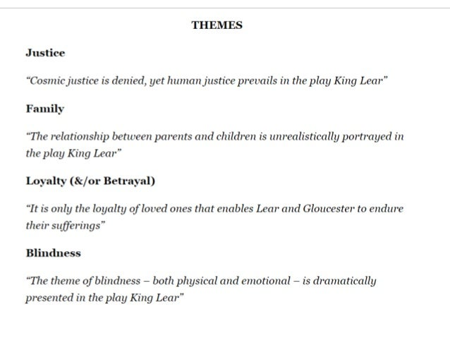 humanity in king lear essay What the conflicting principles of human nature  question: what is the view of  human society in king lear  shakespeare quotations (by theme and play.
