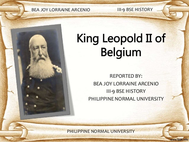 leopold ii as a king sovereign of King leopold ii of the belgians king leopold was declared sovereign of the congo free state – lands over seventy-six times the size of belgium.