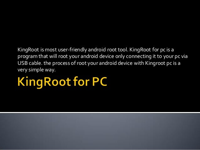 King root for pc