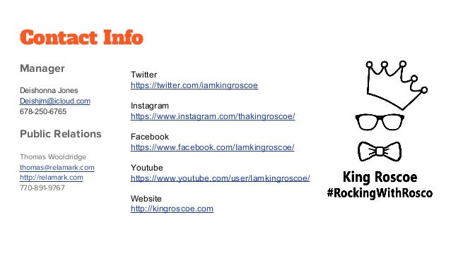 King Roscoe media Press Kit