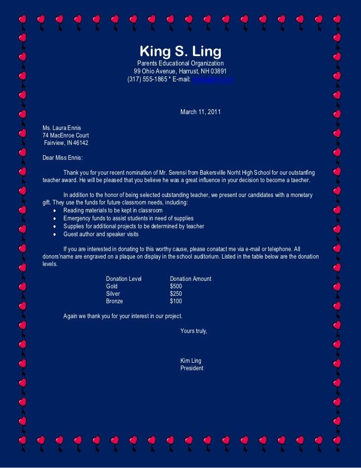 King S. Ling<br />Parents Educational Organization<br />99 Ohio Avenue, Harrust, NH 03891<br />(317) 555-1865 * E-mail: ks...
