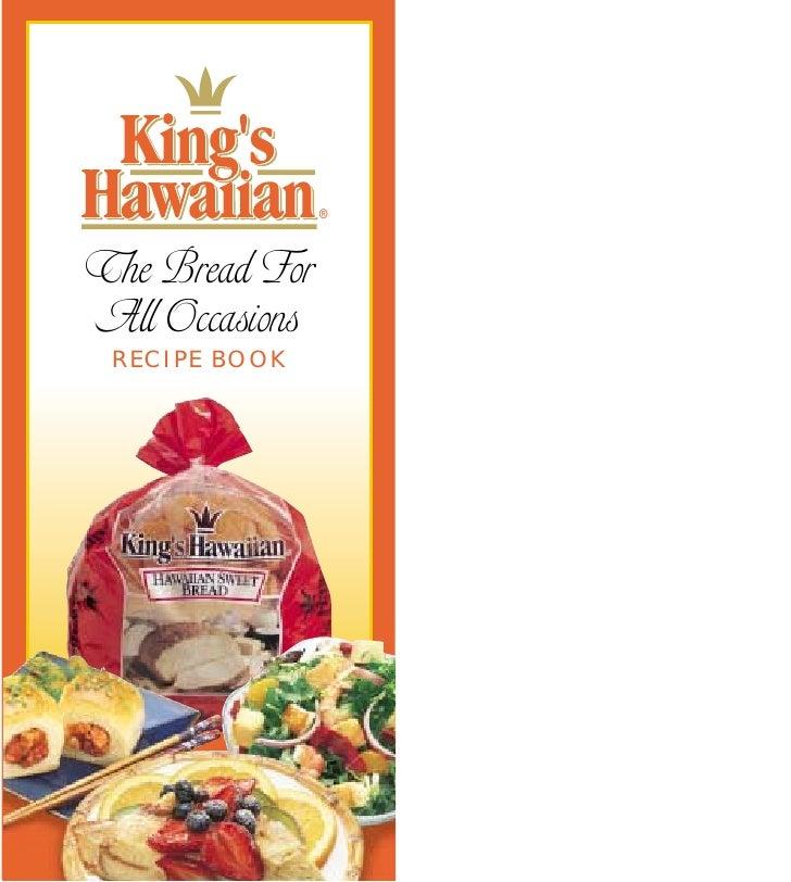 ®    The Bread For All Occasions  RECIPE BOOK