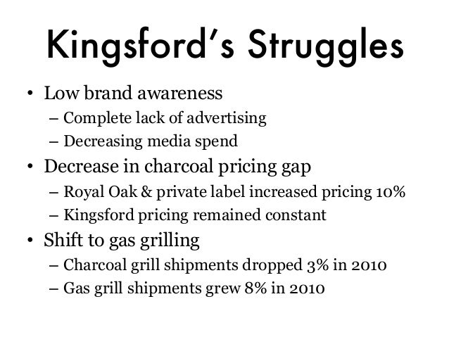 kingsford charcoal case study solution