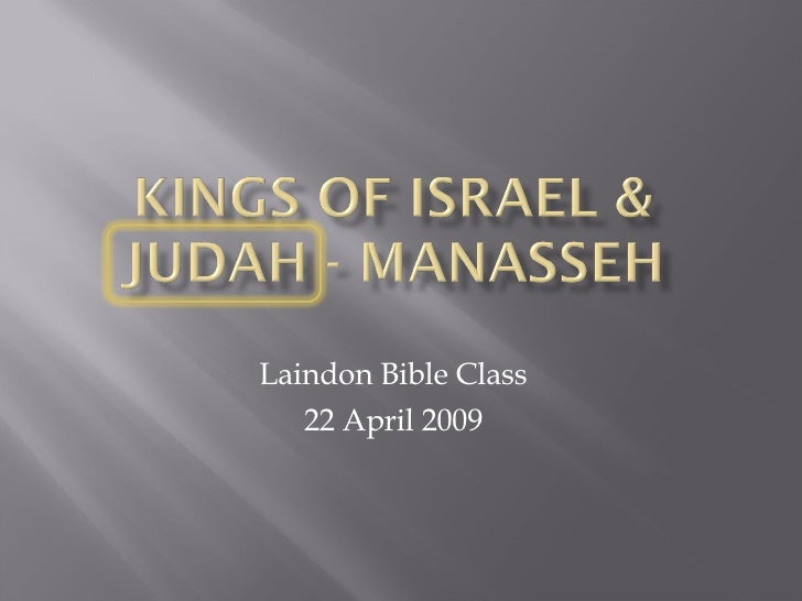 Laindon Bible Class 22 April 2009