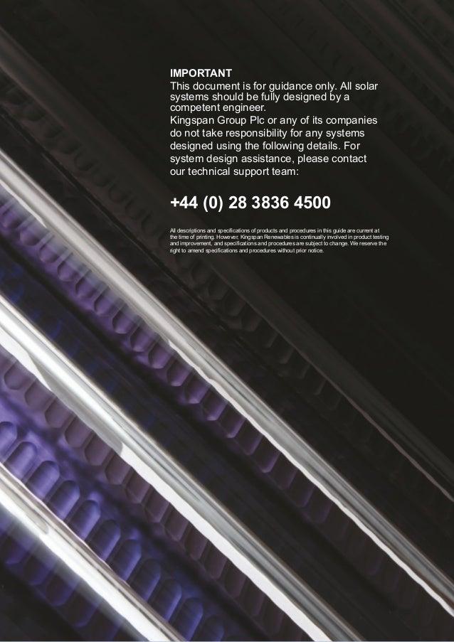 Kingspan Solar Commercial Design Guidelines