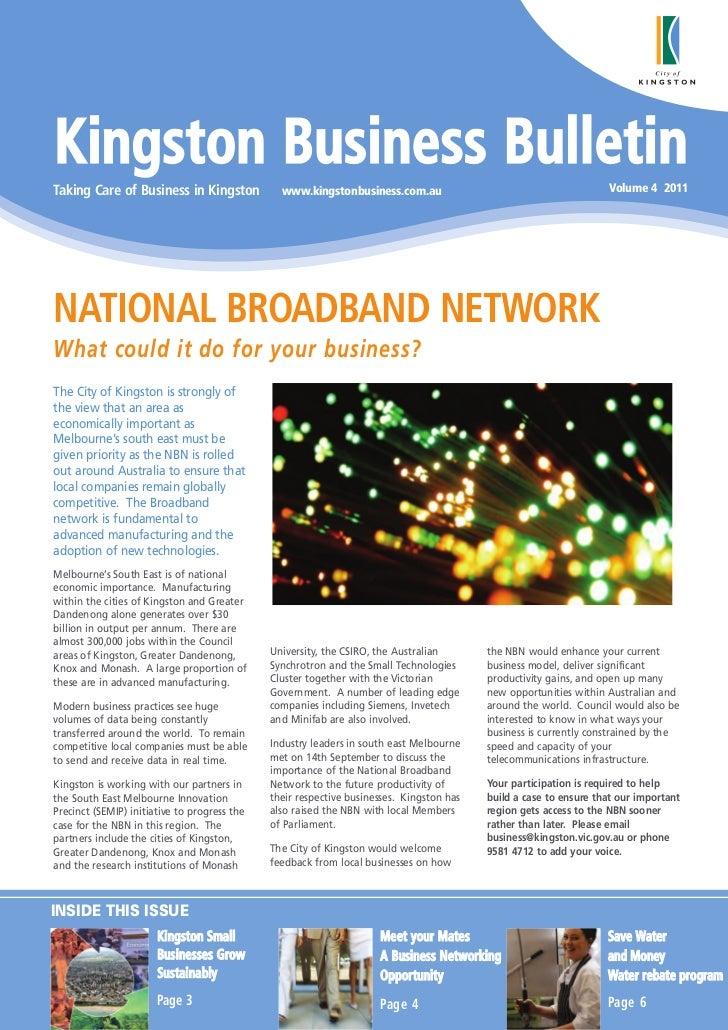 Kingston Business BulletinTaking Care of Business in Kingston             www.kingstonbusiness.com.au                     ...