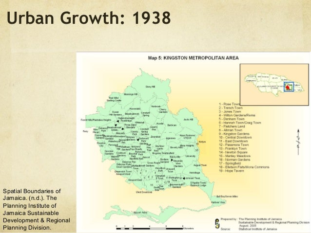 Kingston Jamaica Mapping Urbanization