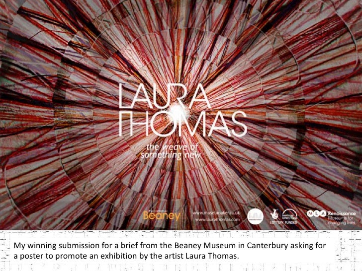 My winning submission for a brief from the Beaney Museum in Canterbury asking for a poster to promote an exhibition by the...