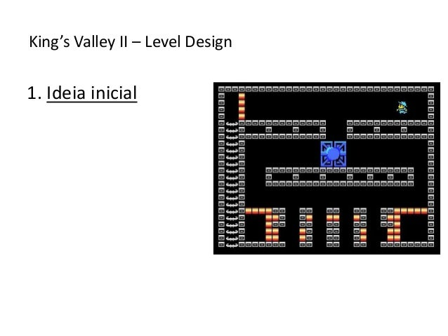 1. Ideia inicial King's Valley II – Level Design
