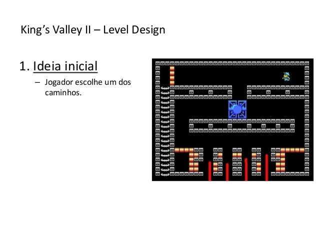 1. Ideia inicial – Jogador escolhe um dos caminhos. King's Valley II – Level Design