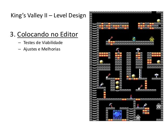 3. Colocando no Editor – Testes de Viabilidade – Ajustes e Melhorias King's Valley II – Level Design