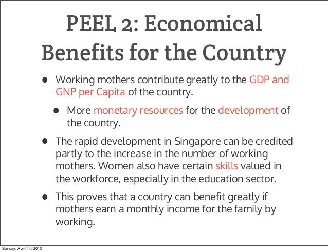 positive effects of working mothers