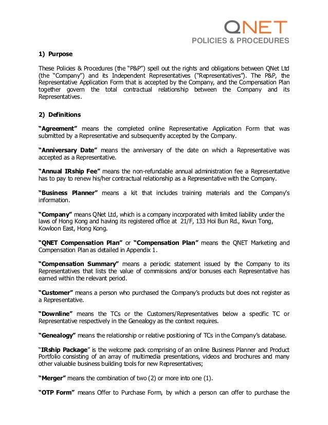 Kinh doanh cung q net viet nam qnet policies & procedures
