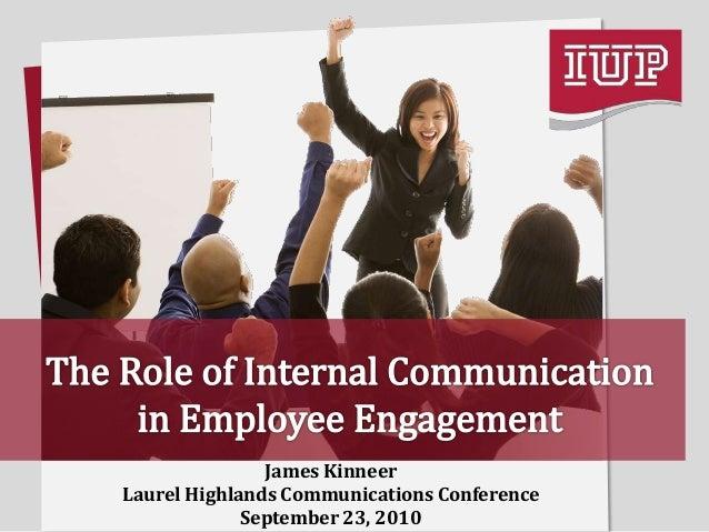 James Kinneer Laurel Highlands Communications Conference September 23, 2010