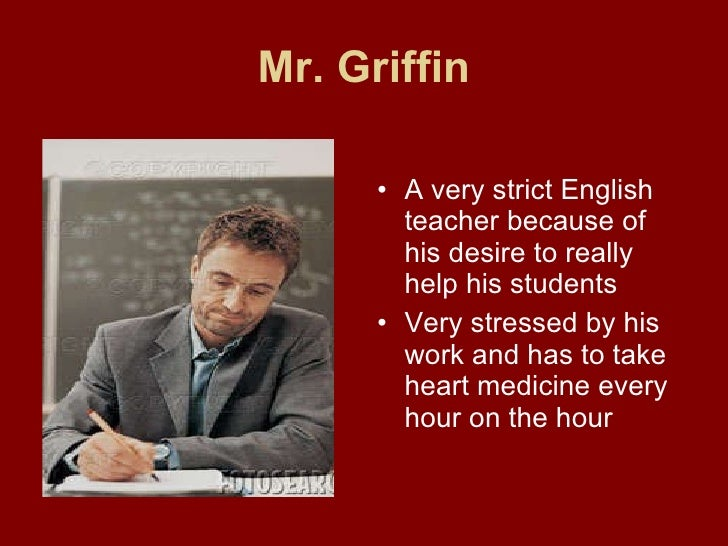killing mr griffin essay They only meant to scare him mr griffin is the strictest teacher at del norte high,  with a penchant for endless projects and humiliating his students.