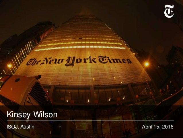 Kinsey Wilson April 15, 2016ISOJ, Austin