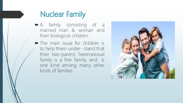 a nuclear family consists of