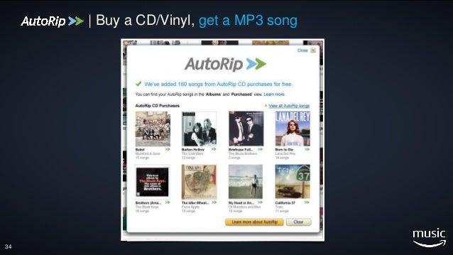34 | Buy a CD/Vinyl, get a MP3 song