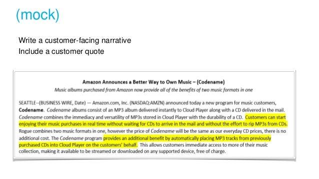 Write a customer-facing narrative Include a customer quote (mock) press release