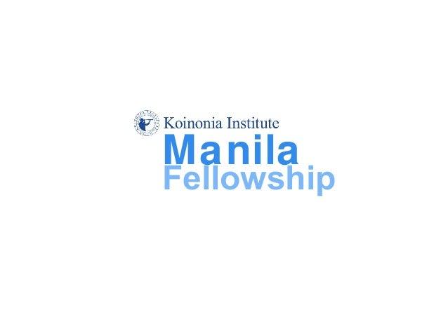 Manila Fellowship