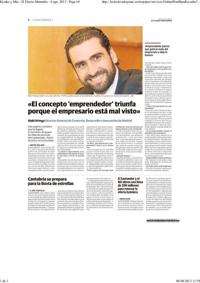 Kiosko y Más - El Diario Montañés - 6 ago. 2013 - Page #8 http://lector.kioskoymas.com/epaper/services/OnlinePrintHandler....