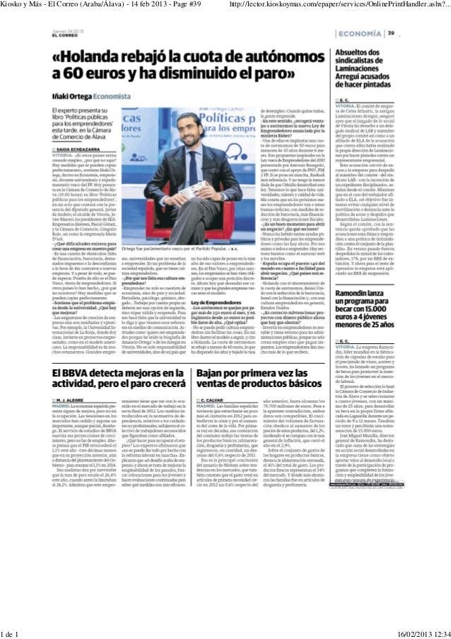 Kiosko y Más - El Correo (Araba/Álava) - 14 feb 2013 - Page #39   http://lector.kioskoymas.com/epaper/services/OnlinePrint...