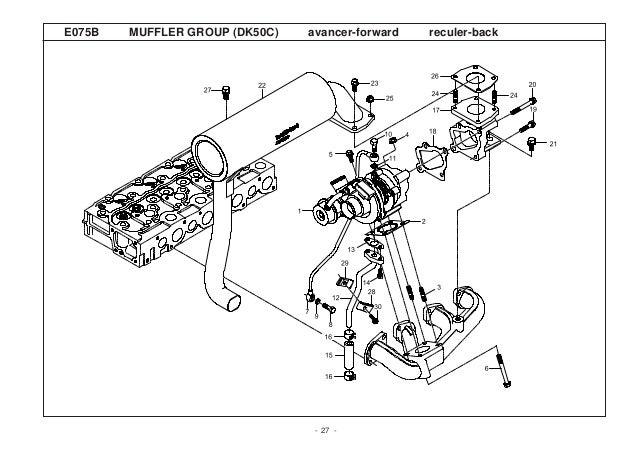 Kioti daedong dk45 c tractor parts catalogue manual