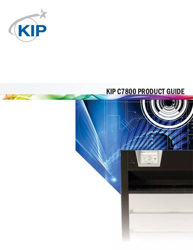 KIP C7800 PRODUCT GUIDE