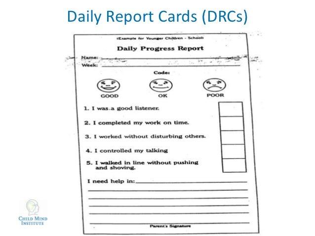 KIPP ADHD Presentation Kurtz - Daily report card template for adhd