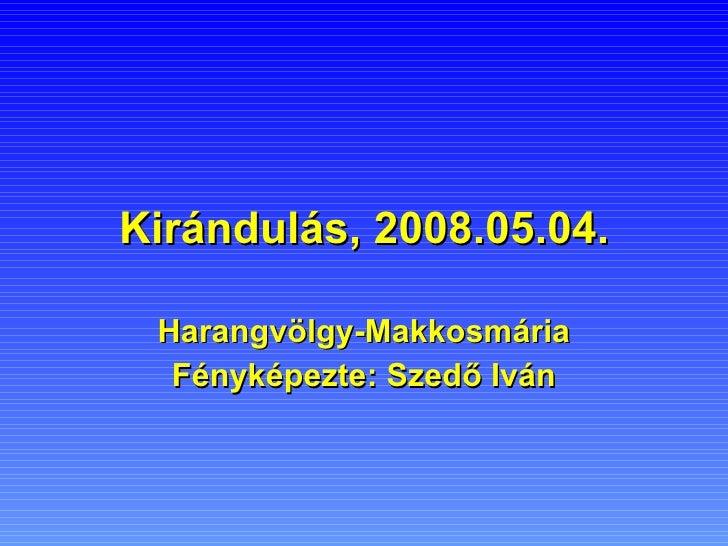 Kirándulás, 2008.05.04. Harangvölgy-Makkosmária Fényképezte: Szedő Iván