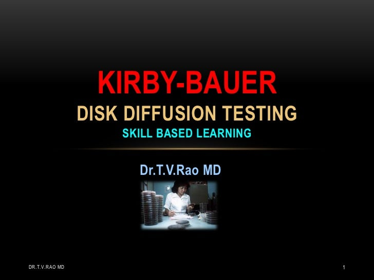 KIRBY-BAUER                DISK DIFFUSION TESTING                    SKILL BASED LEARNING                      Dr.T.V.Rao ...