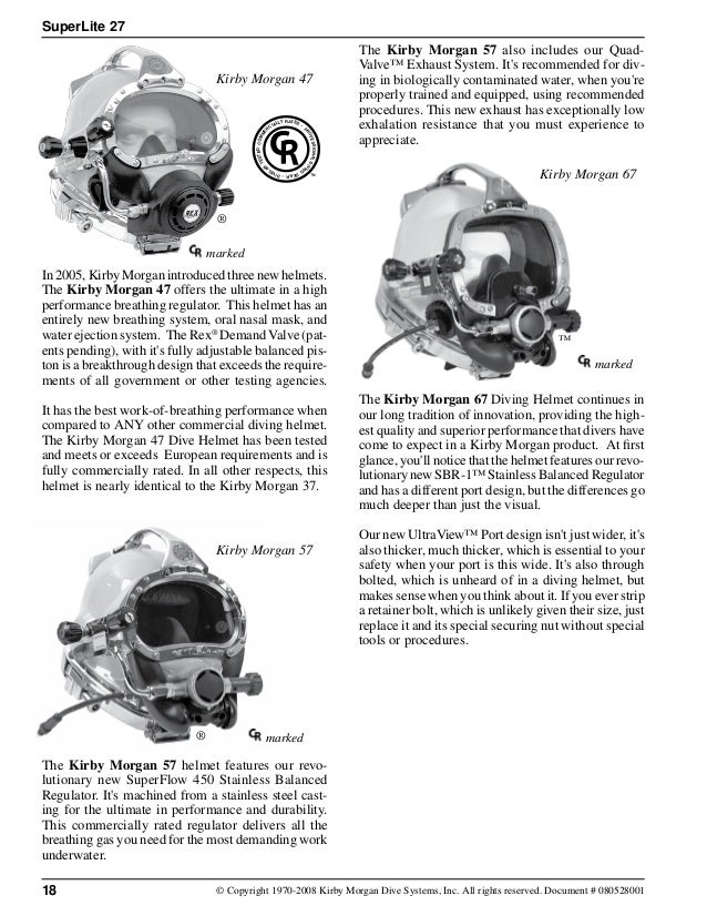 Kirby morgan superlite_27_dive_helmet_manual