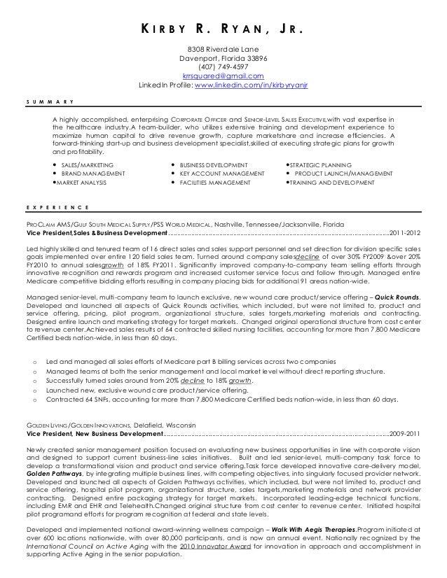 Kirby R. Ryan, Jr resume 02-2012