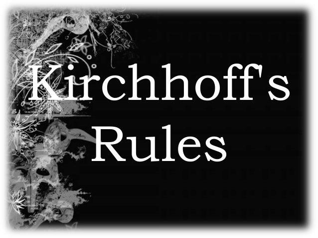 Kirchhoffs   Rules