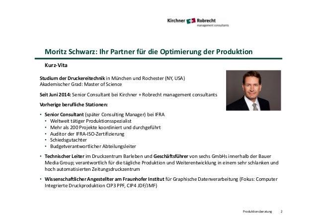 Kirchner + Robrecht managemet consultants: Produktionsberatung Slide 2
