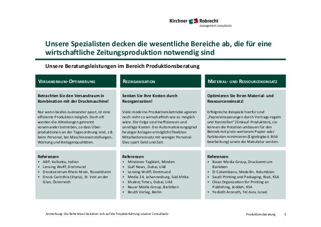 Kirchner + Robrecht managemet consultants: Produktionsberatung Slide 3