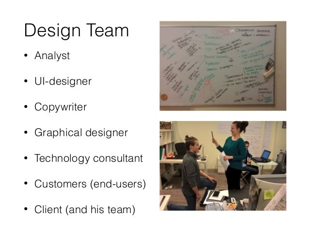 Outcomes • Wireframes • Clickable prototypes • Technical specifications • User Interface texts • Product roadmap • Domain k...