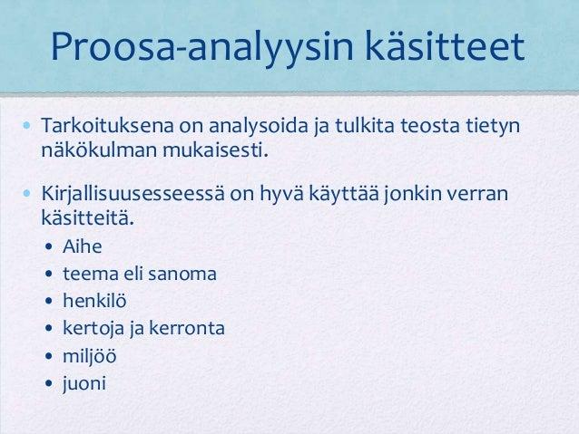 Proosa Analyysi
