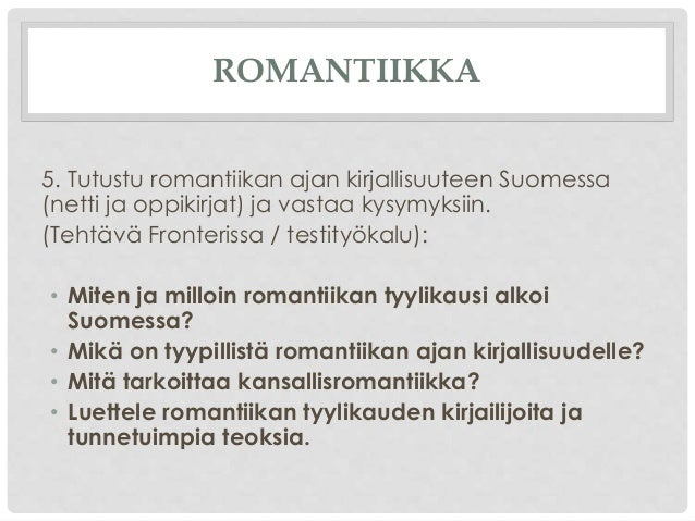 Romantiikan Ajan Kirjallisuus