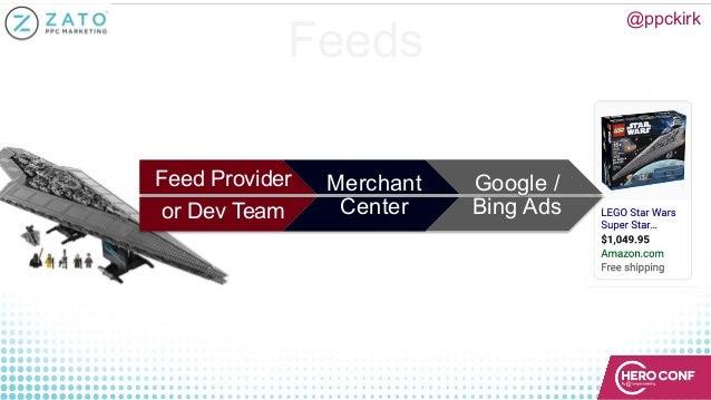 Feeds Feed Provider or Dev Team Merchant Center Google / Bing Ads @ppckirk