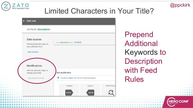 @ppckirk Limited Characters in Your Title? Prepend Additional Keywords to Description with Feed Rules
