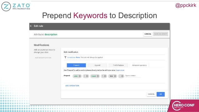 @ppckirk Prepend Keywords to Description