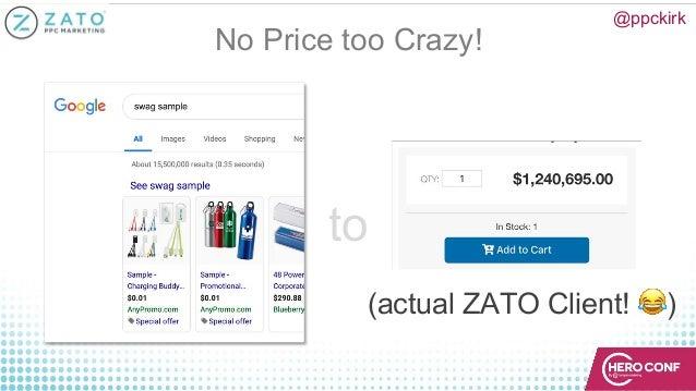No Price too Crazy! @ppckirk (actual ZATO Client! !) to