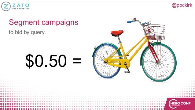 Segment campaigns to bid by query. @ppckirk $0.50 =