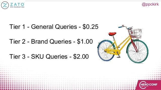 @ppckirk Tier 1 - General Queries - $0.25 Tier 2 - Brand Queries - $1.00 Tier 3 - SKU Queries - $2.00