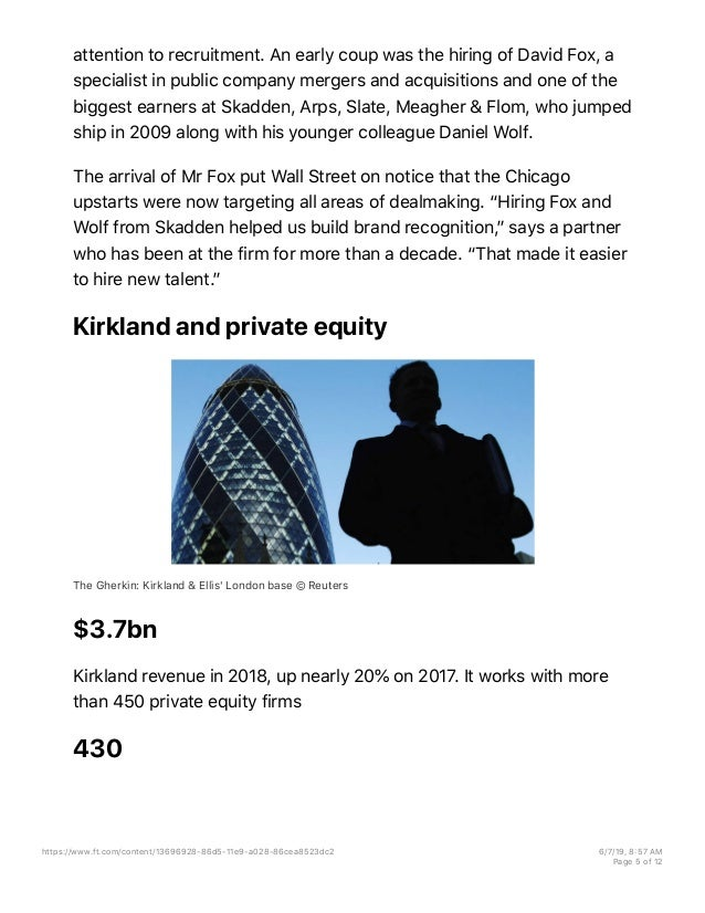 Kirkland & Ellis: How a private equity boom fuelled the world's bigge…