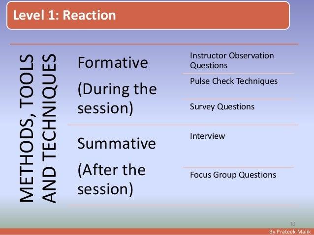 kirkpatrick training evaluation method