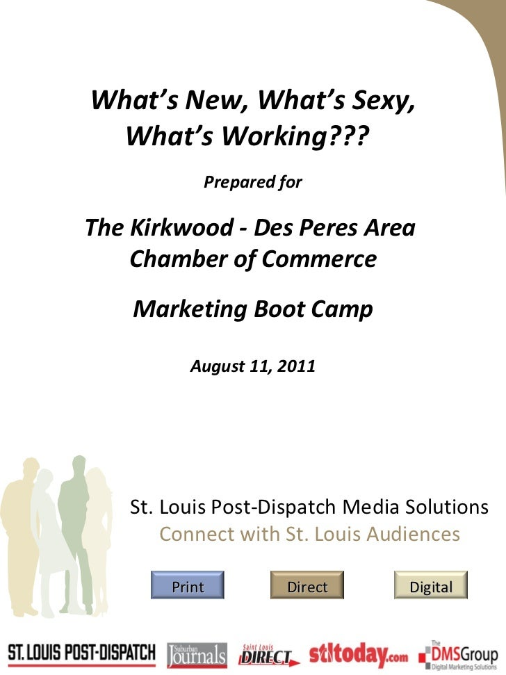 What's New, What's Sexy, What's Working???  Prepared for The Kirkwood - Des Peres Area  Chamber of Commerce Marketing Boot...